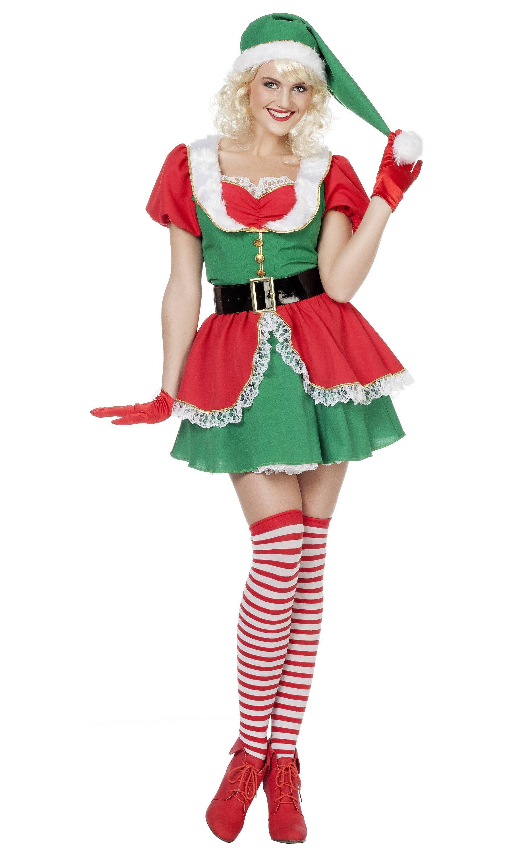 Costume-Lutin-Noël-Femme