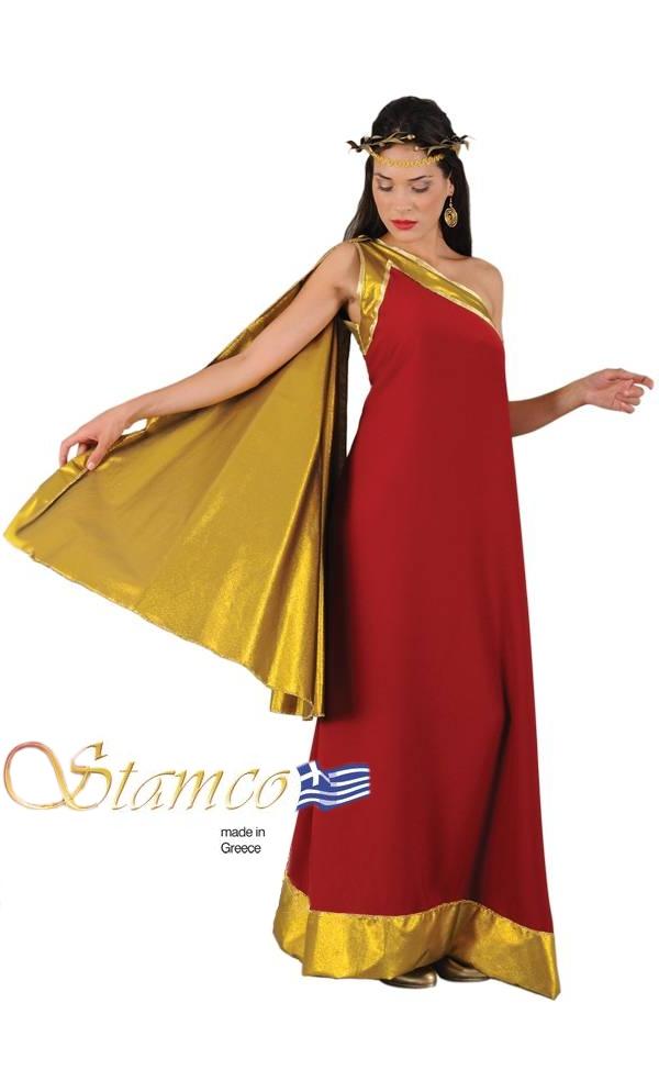 Costume-Déesse-rouge-et-dorée