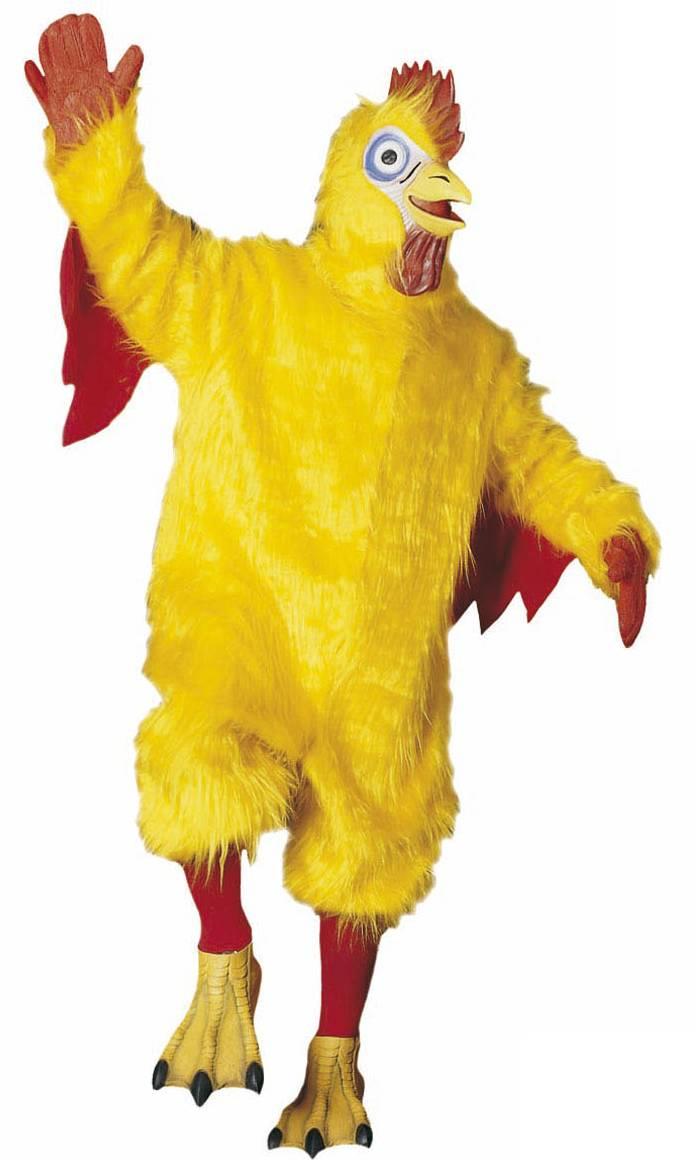 Costume coq jaune
