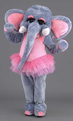 Costume-Mascotte-Eléphant-Rose-Tutu-M3