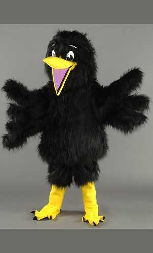 Costume-Mascotte-Canard-Noir