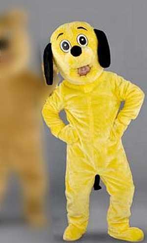 Costume-Mascotte-Chien-Jaune-M10