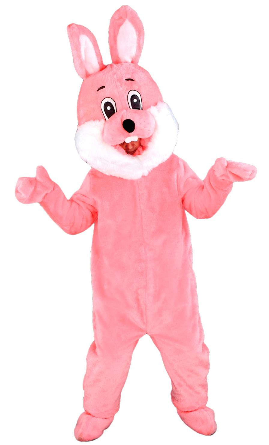 Costume-Mascotte-Lapin-Rose-M7