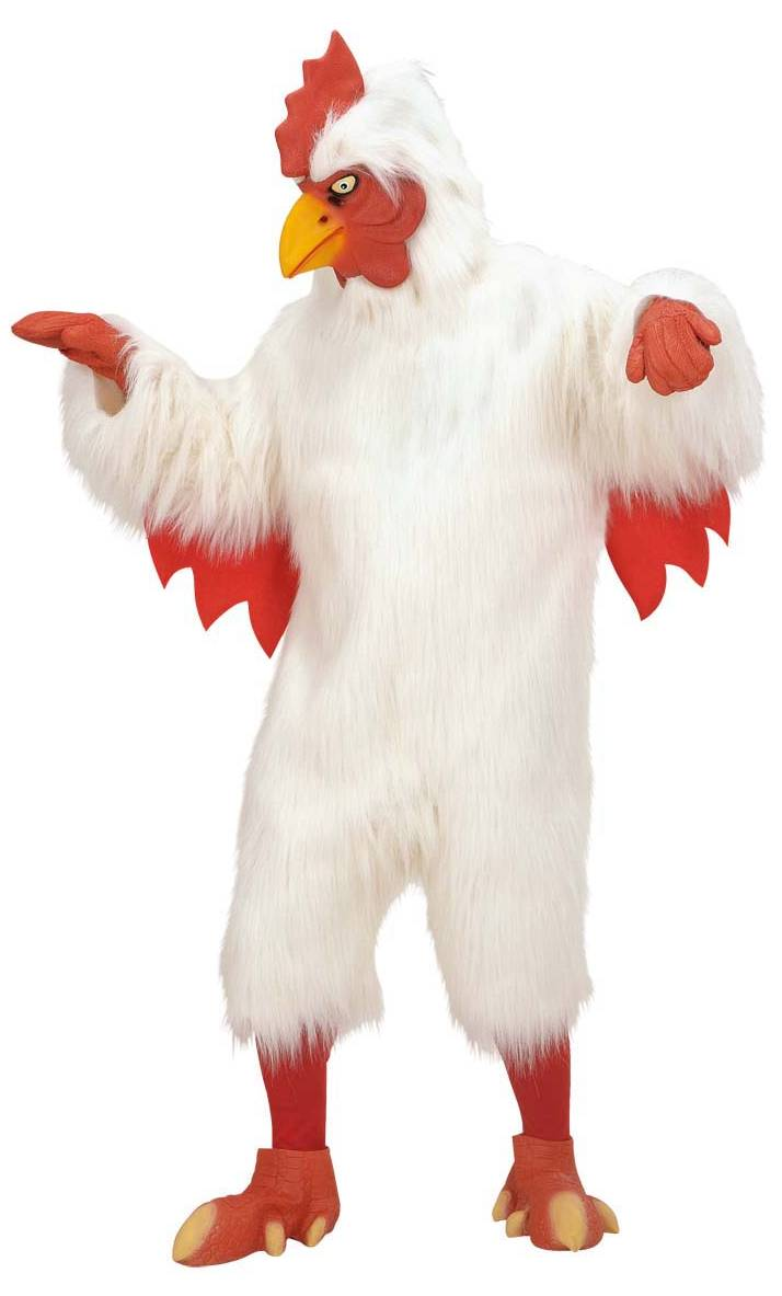 Mascotte-de-coq-blanc