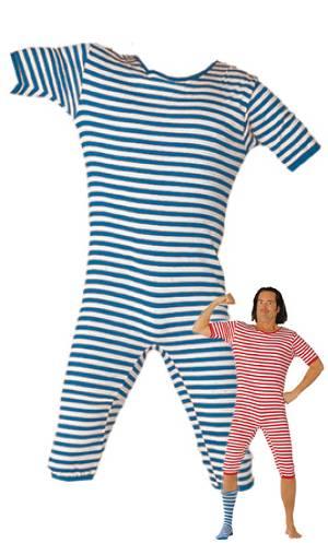 Costume-Maillot-de-bain-retro-bleu