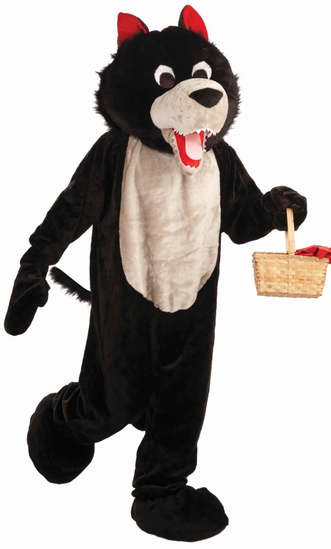 Mascotte-de-loup-noir