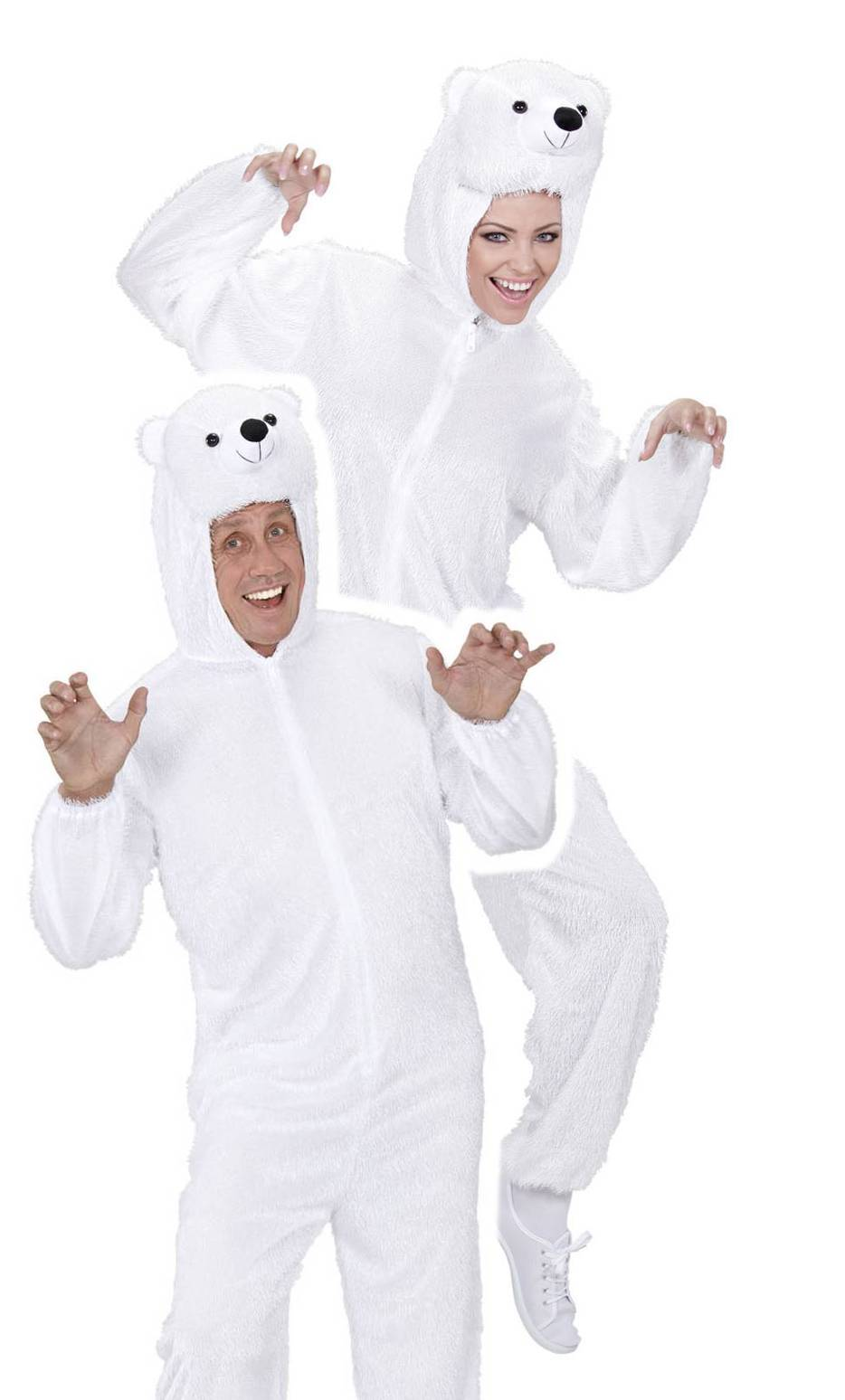 Costume d'ours blanc adulte