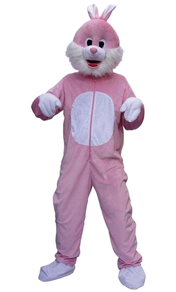 Mascotte-de-lapin-rose