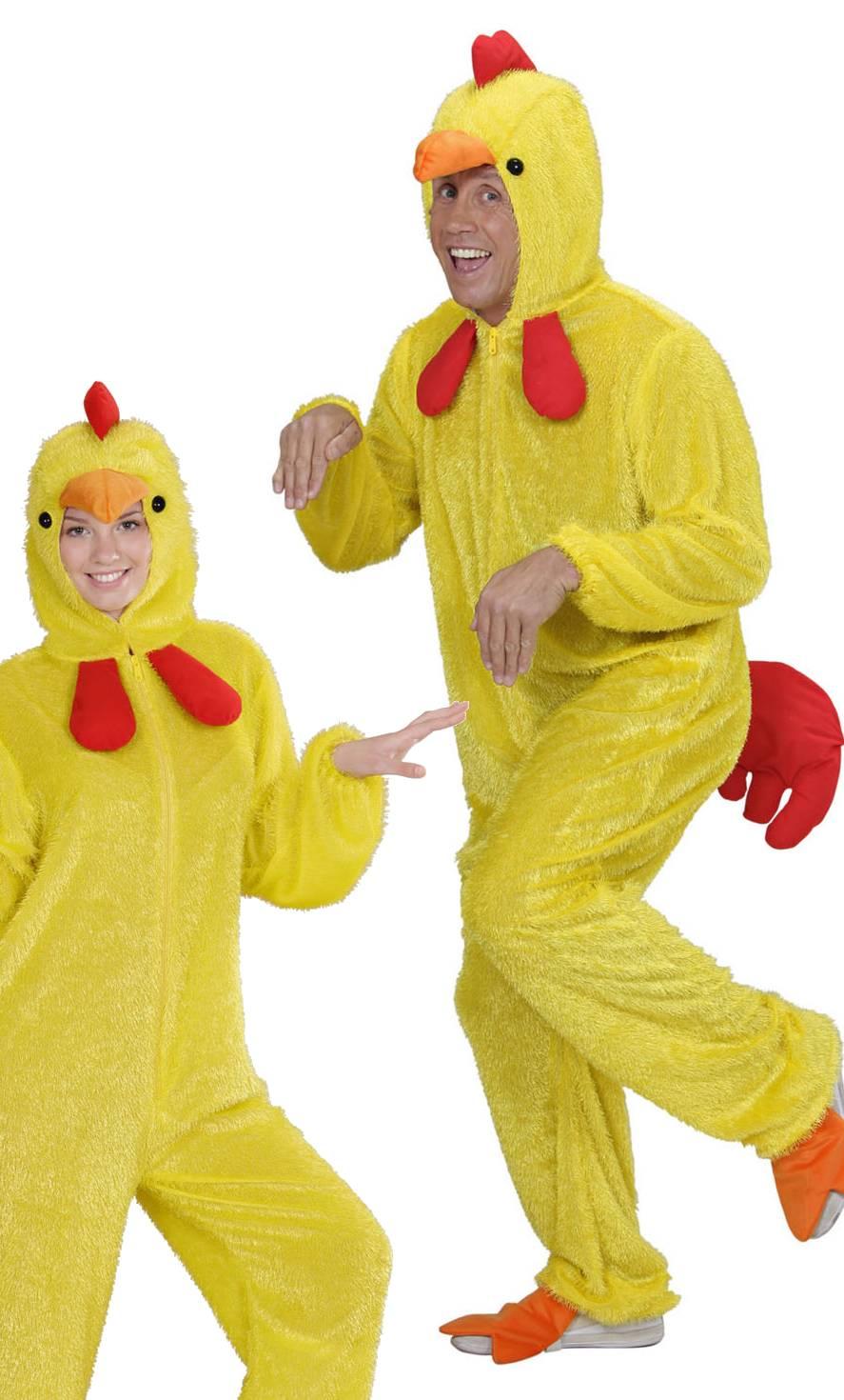Costume de coq jaune