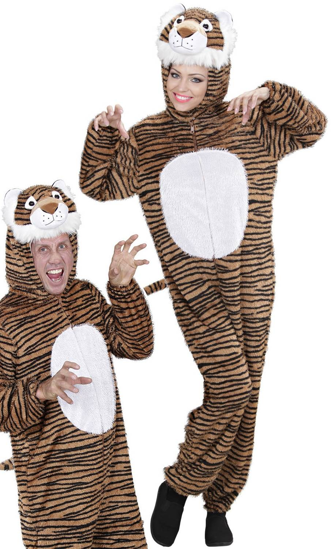 Costume de tigre pour adulte en grande taille
