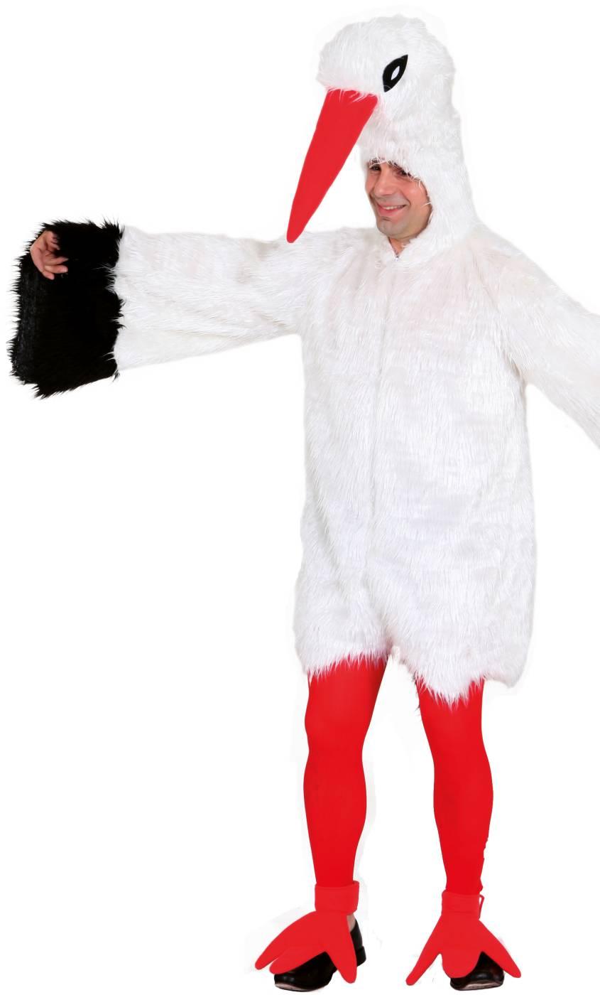Très Costume d'oiseau cigogne adulte-v39540 KJ17