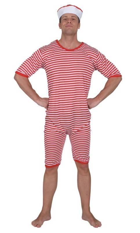 Costume-Maillot-de-Bain-Retro-Rouge