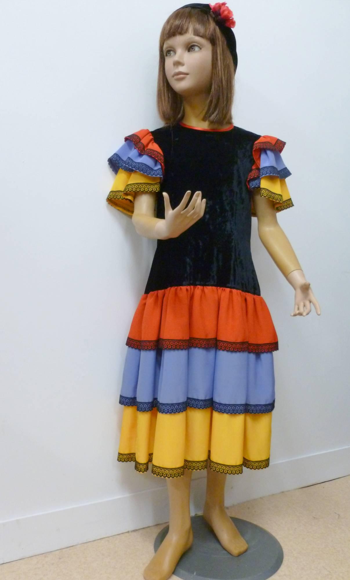 Robe-espagnole-Fille-Espana