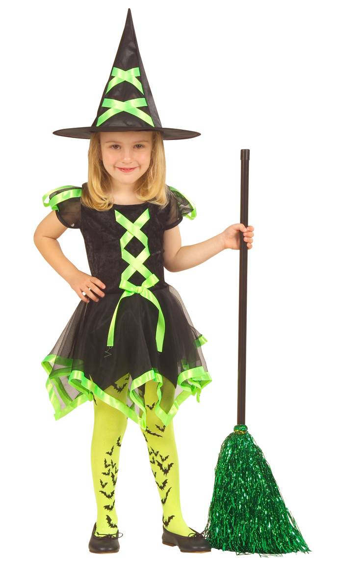 Costume sorcire verte v58031 - Deguisement petite fille ...