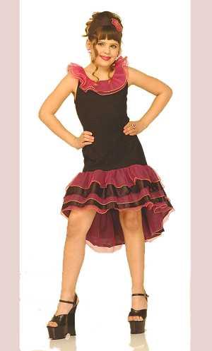 Costume-Robe-Espagnole-noir/rose