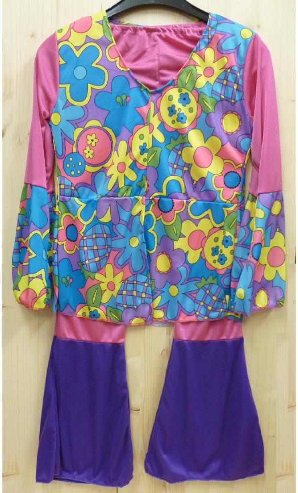Costume-Hippie-enfant-rose-2