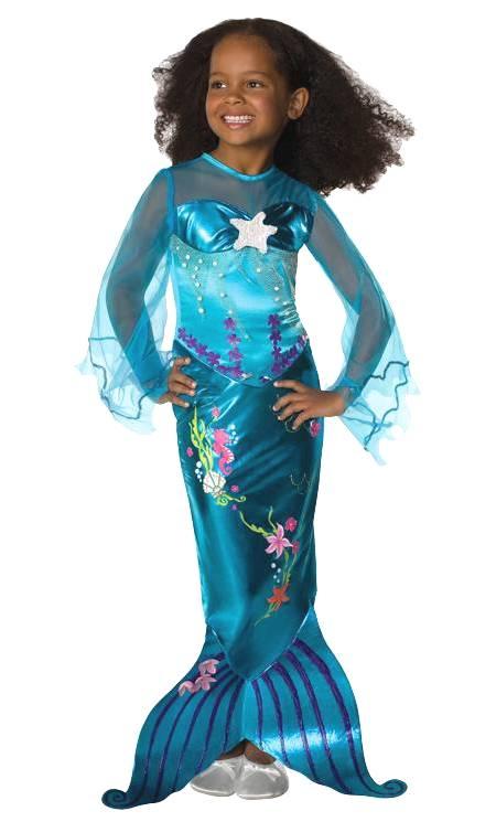 Costume-Sirène-bleue-Fille