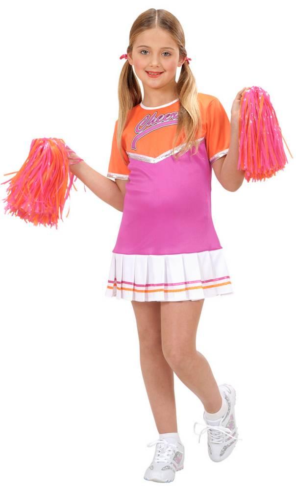 Robe-Pompom-Girl-Fille-rose-D1