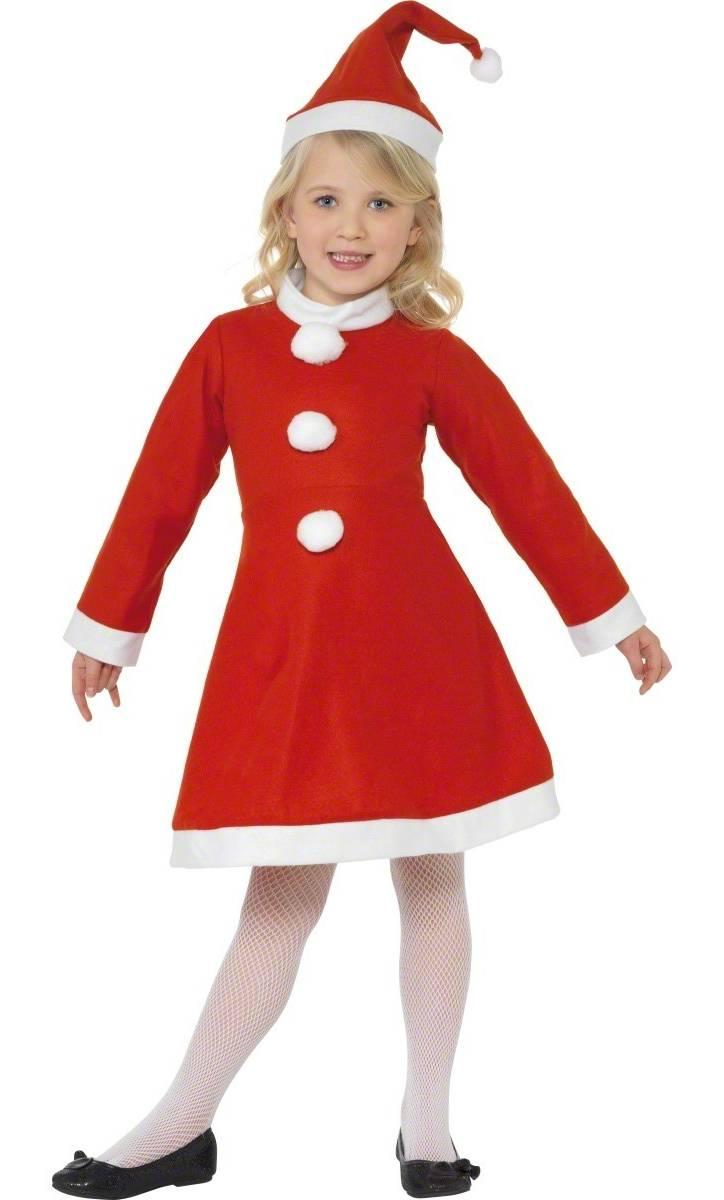 Robe-Mère-Noël-enfant-Fille-Noël-eco