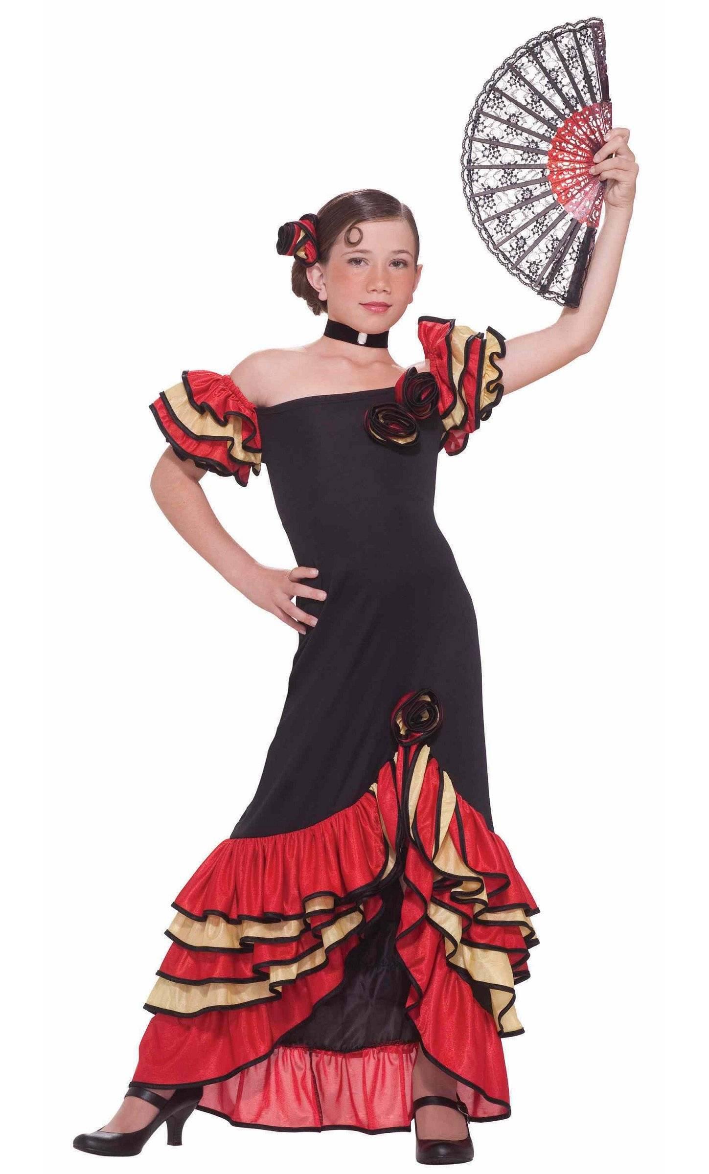 robe espagnole pour fille v59270. Black Bedroom Furniture Sets. Home Design Ideas