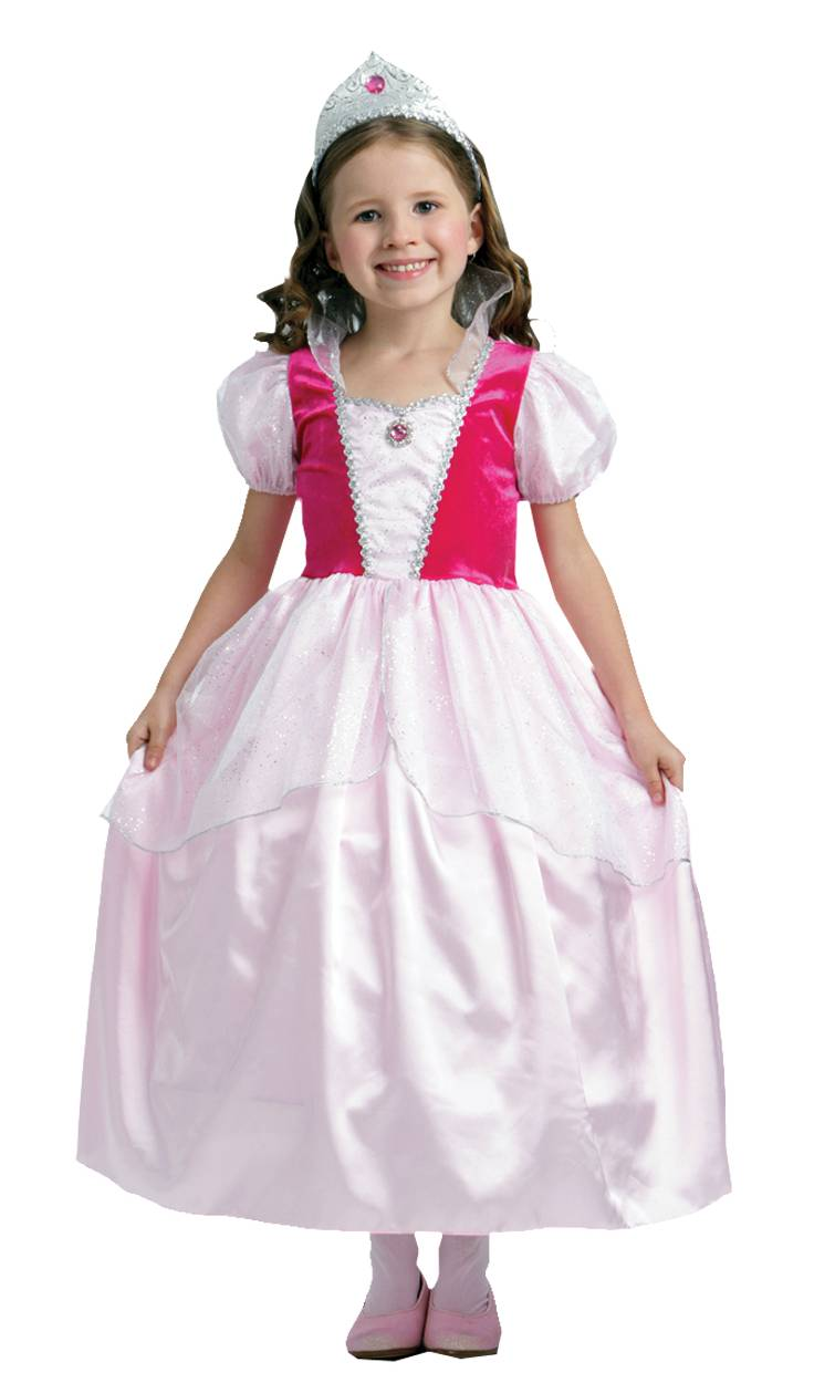 Robe-de-princesse-Fille-rose