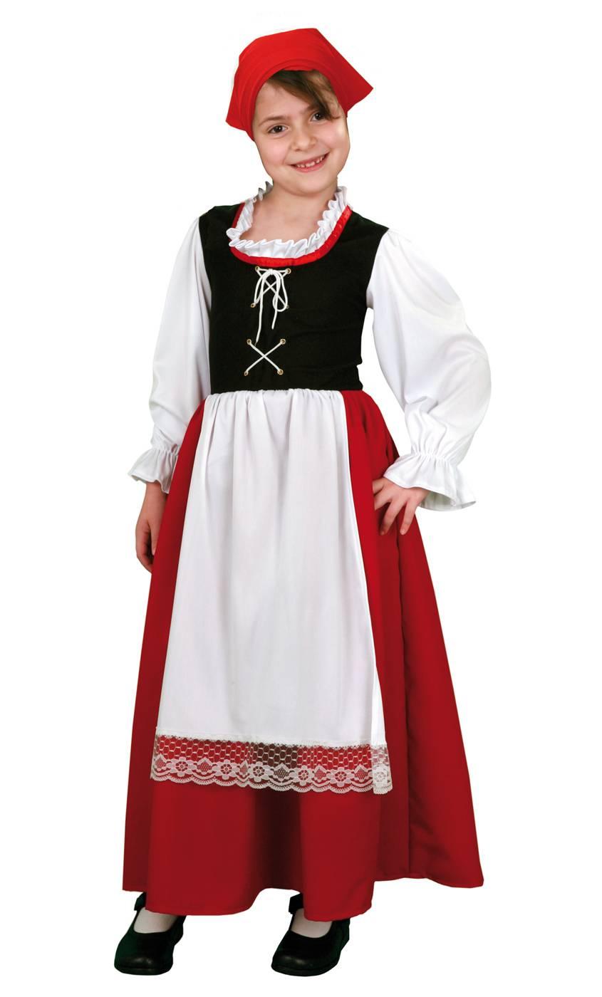 Costume-Paysanne-médiévale-fille