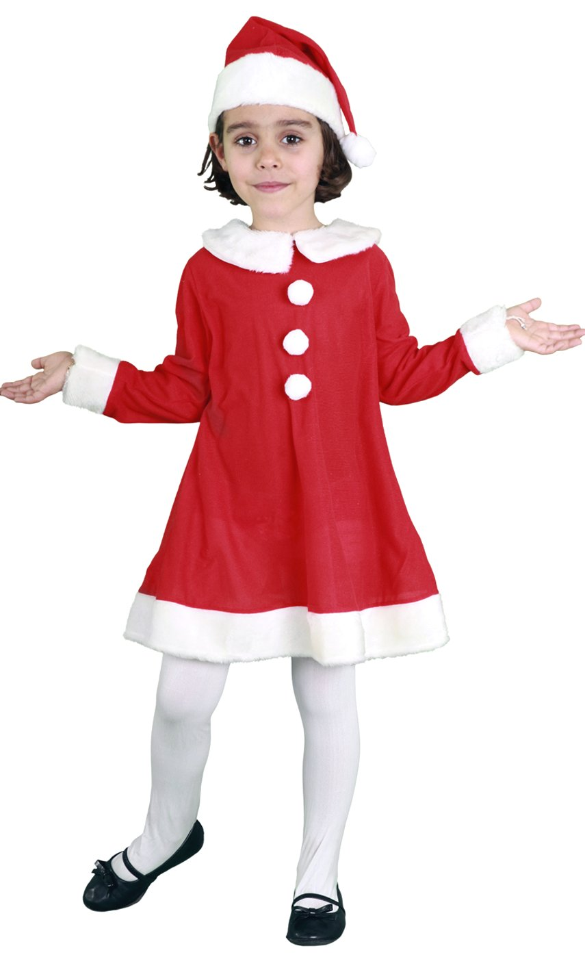Costume-Mère-Noël-Fille