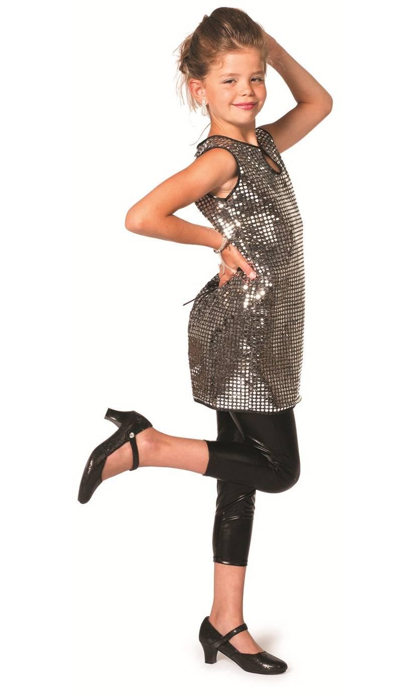 Costume-Robe-Disco-paillettes-argent