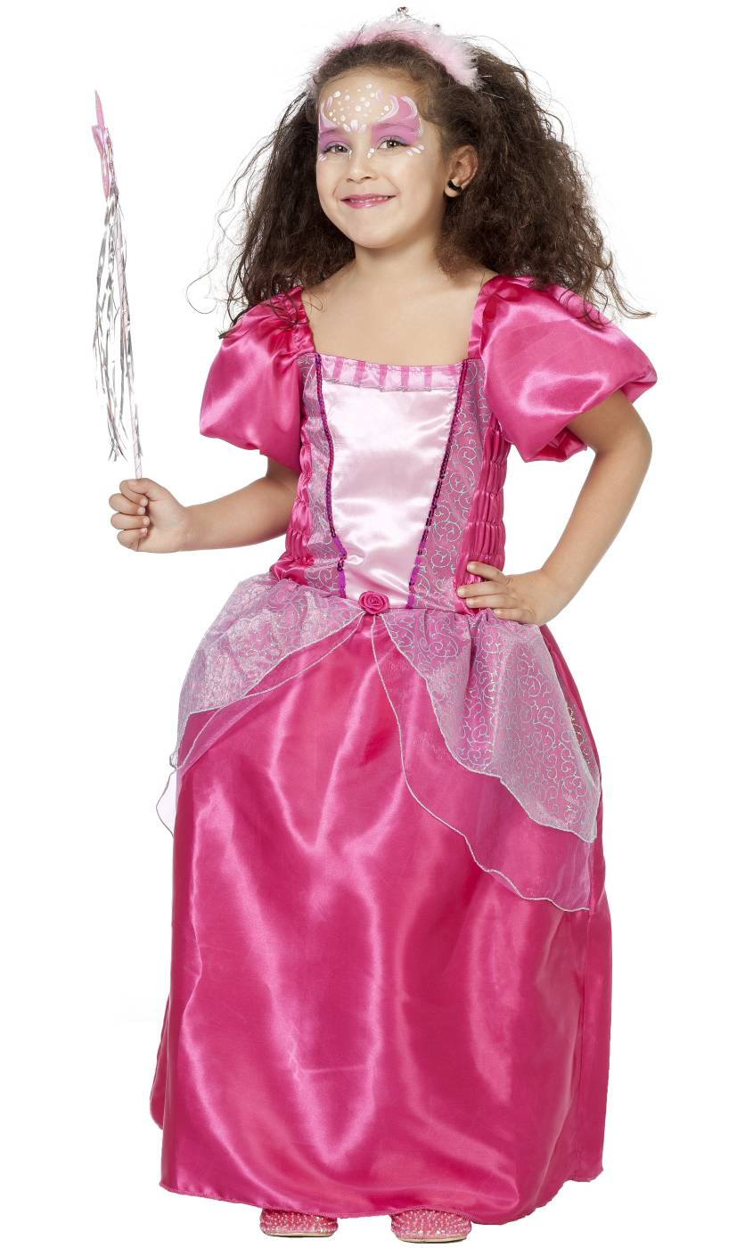 Robe-de-princesse-enfant-rose