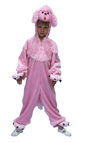 Costume-Chien-caniche-rose