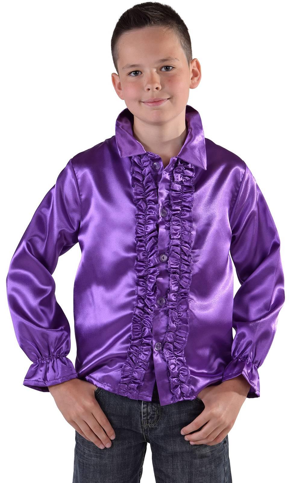 Chemise-Disco-violette