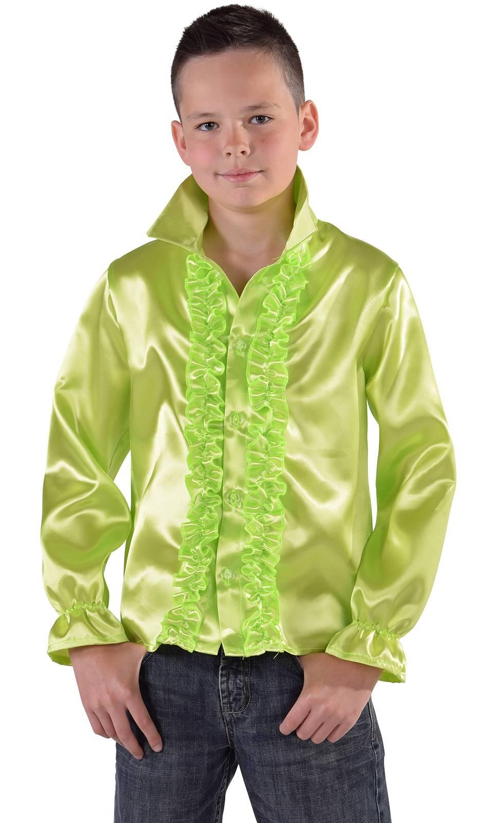Chemise-Disco-Enfant-verte