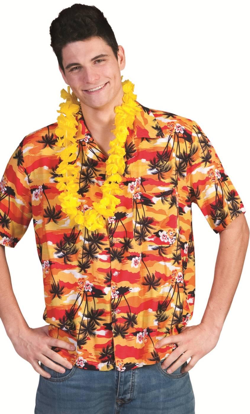 Chemise-Hawaï-Homme-orange