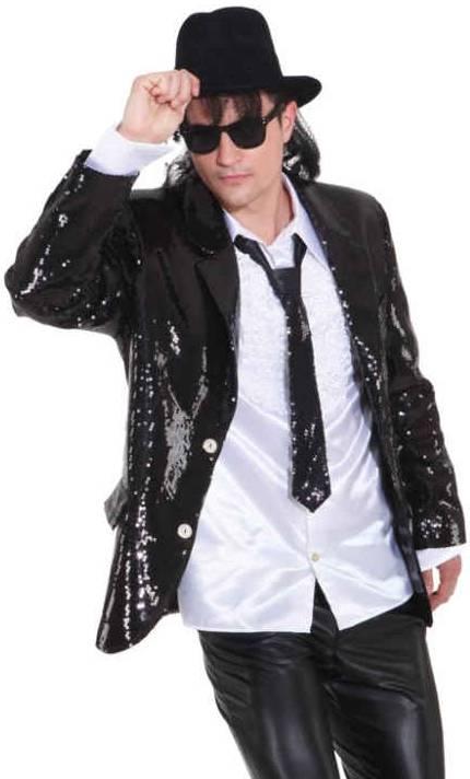 Costume-Veste-paillettes-noire-homme