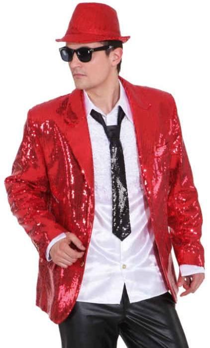 costume veste paillettes rouge homme w10045. Black Bedroom Furniture Sets. Home Design Ideas