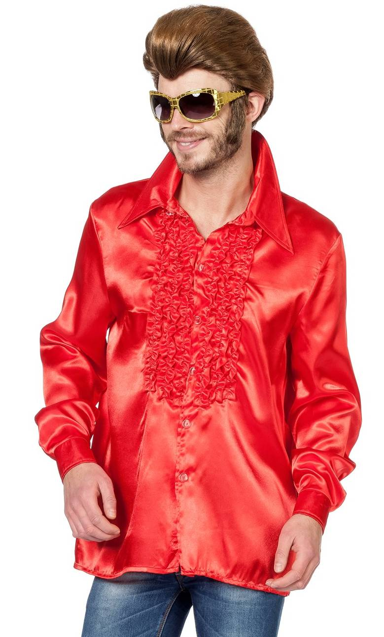 Chemise-Disco-rouge-homme
