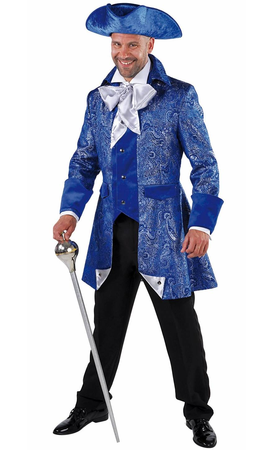 Costume-Marquis-Bleu-Homme-Grande-Taille-XL-XXL