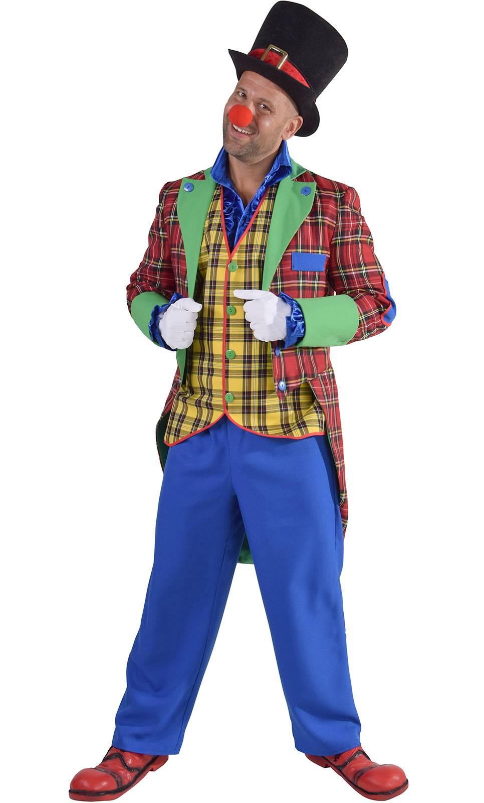 Costume de clown professionnel en grande taille