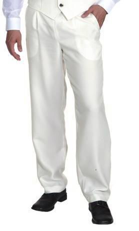 pantalon blanc pour homme en grande taille w10063. Black Bedroom Furniture Sets. Home Design Ideas