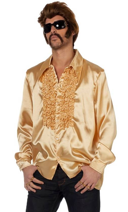 Chemise-disco-dorée