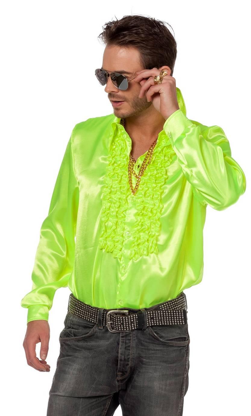 Chemise-Disco-luxe-jaune-néon