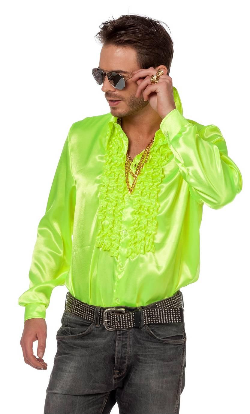 Chemise-Disco-luxe-jaune-Grande-Taille-XL-XXL-XXXL