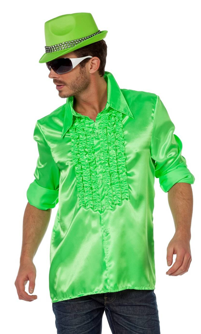 Chemise-Disco-luxe-vert-néon