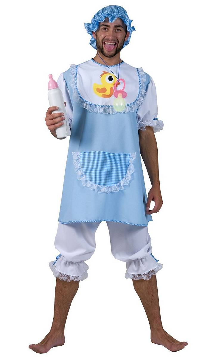 Costume bébé bleu adulte