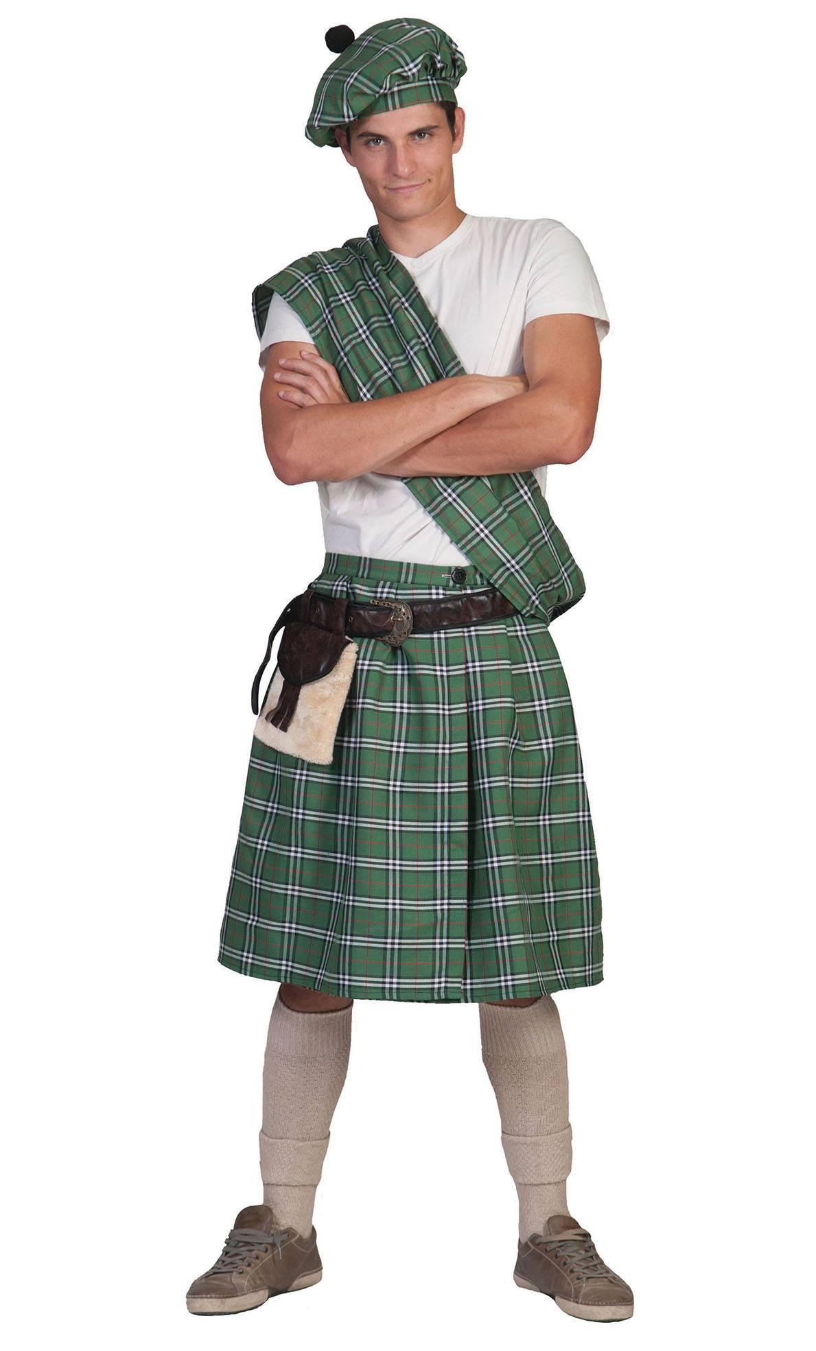 Costume-Kilt-Ecossais-vert