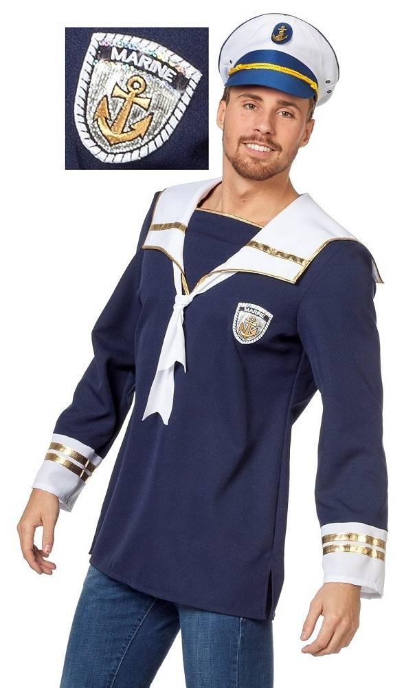 Costume-Vareuse-ou-marinière-de-marin-en-grande-taille