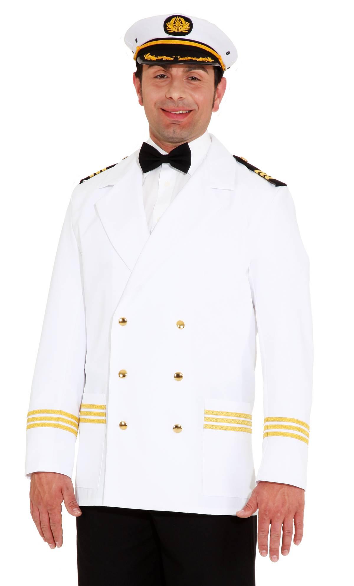 Veste-de-capitaine-blanche-XL