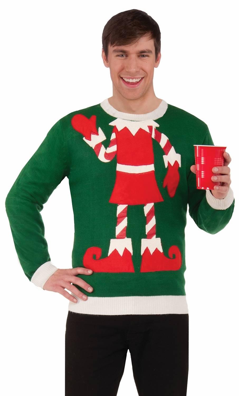 Pull lutin Noël kitsch