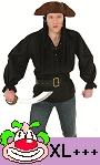 Chemise-pirate-noire-Grande-Taille