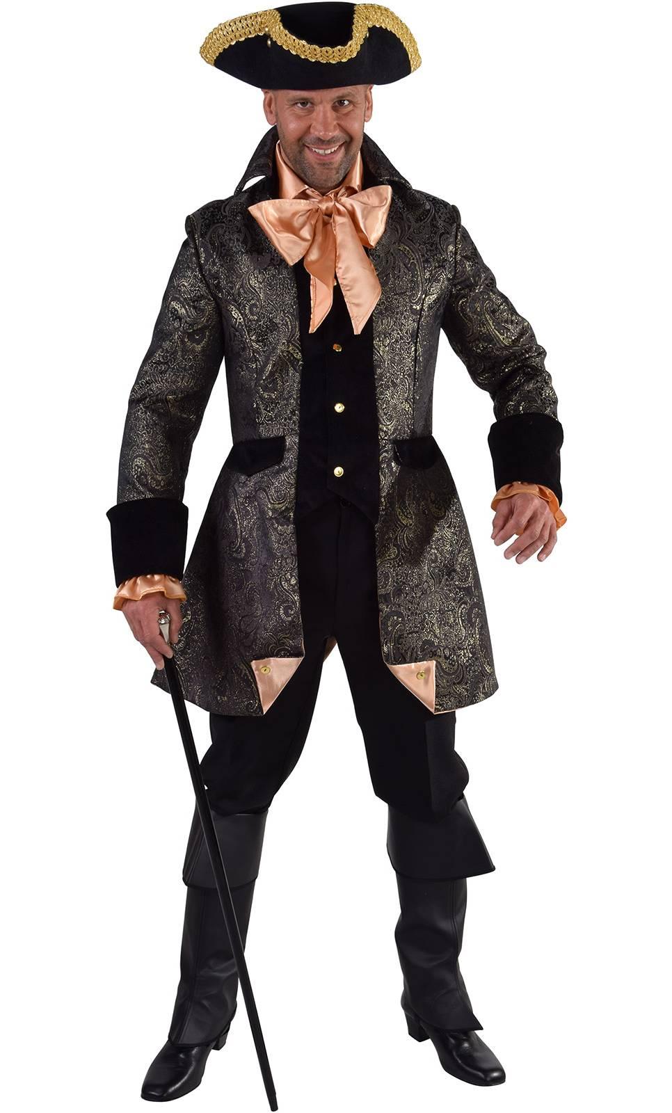 Veste de marquis noir or